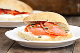 Salmon on Ciabatta
