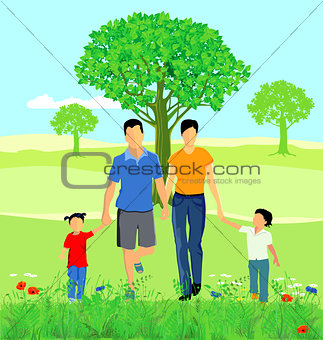 a family in nature