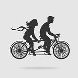 Vector Couple on Tandem Bicycle