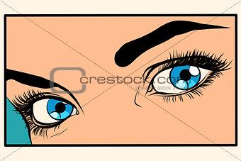 Beautiful blue eyes girl