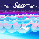 Bright sea background