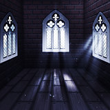 Room with Gothic Window