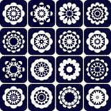 Design elements. Decorative patterns set.