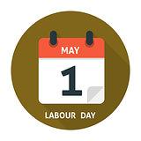 Calendar flat icon May 1