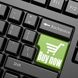Green buy now enter button