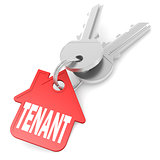Keychain with tenant word image