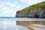 lone kayaker near the cliffs of ballybunion