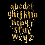 Gold foil glitter Brush Letters