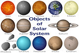 Space Objects of Solar System Set