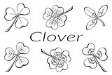 Clover Leaves Pictogram Set