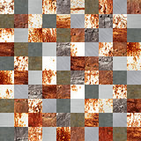 Seamless background with old metal patterns