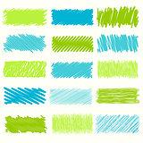 Vector set of scribble elements