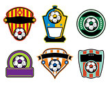 Soccer Football Badges and Labels