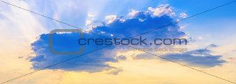 Cumulus cloud at sunset