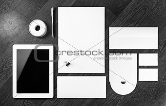 Blank stationery set