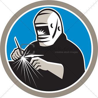 Tig Welder Welding Circle Retro