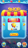 Sweet world mobile GUI shop screen video web games