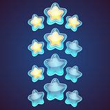 Star vector logo set icon