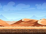 Vector seamless background desert