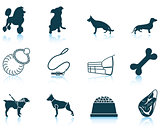 Set of dog breeding icons