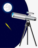 Telescope and starry sky
