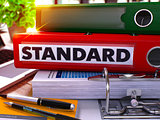 Standard on Red Office Folder. Toned Image.