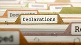 Declarations on Business Folder in Catalog.