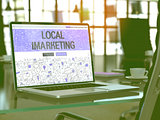 Local Imarketing Concept on Laptop Screen.