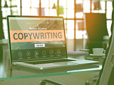 Laptop Screen with Copywriting Concept.
