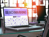 Benchmarking Concept on Laptop Screen.