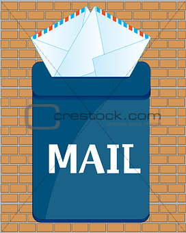Box postal with letter