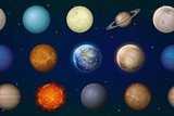 Solar System Planets Seamless