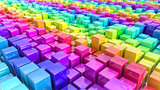 Rainbow coloured cubes