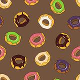 Donuts seamless pattern