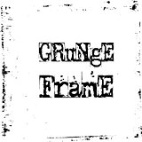 Black and white grunge frame