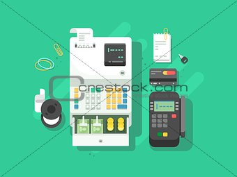 Cash machne and digital terminal for cards