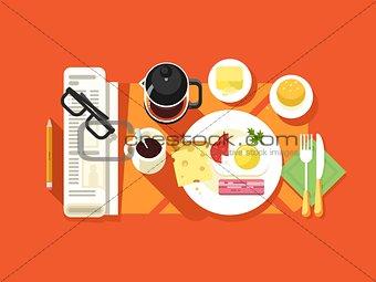Breakfast design flat