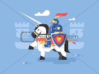 Knight on horseback character