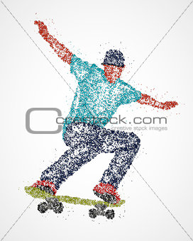 Abstract, skateboarder, athlete
