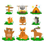 Forest Camping Cute Set
