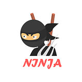 Ninja Cartoon Style Icon