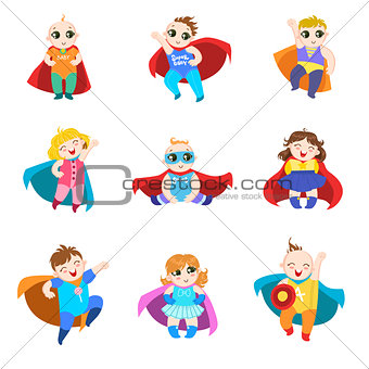 Babies Dressed As Superheroes Set