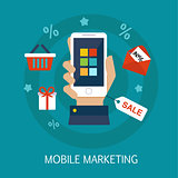Mobile Marketing Concept Art