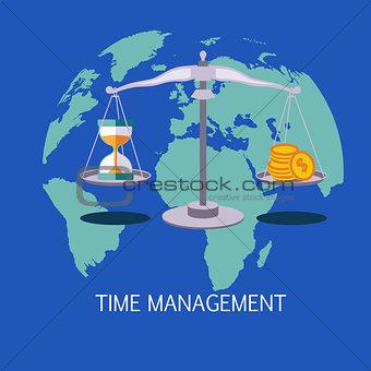 Time Management Concept Art