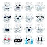Funny Snowflake Emojis