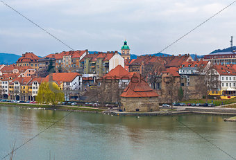 City of Maribor on Drava coast
