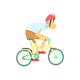 Old Man Riding Bicycle