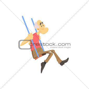 Old Man On Swings