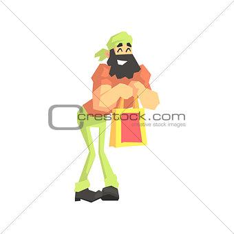 Beardy Man With Shopping Bag