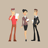 Three Office Workers